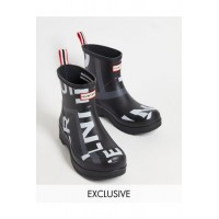 Hunter Originals exclusive wellington boots in exploded print Black XAGG6654